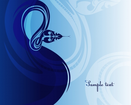 2013 new year poster with a snake  Stock Vector - 16843204