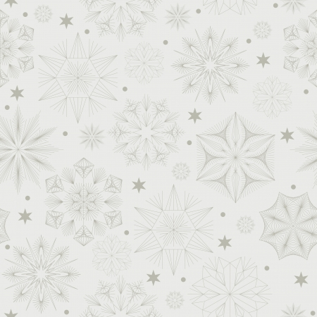 Christmas seamless pattern  Texture with snowflakes  Vector