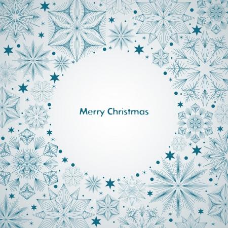teal background: Christmas illustration for your design  Illustration
