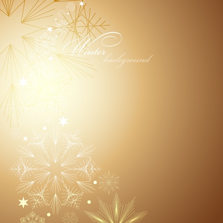 Elegant Christmas background with snowflakes and place for text Stock Vector - 16843205