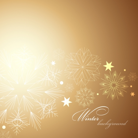 Elegant Christmas background with snowflakes and place for text   Vector