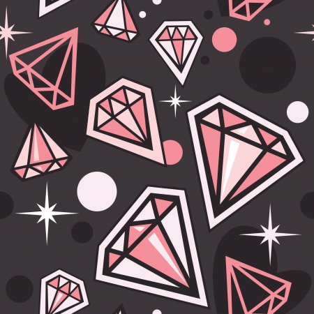unbreakable: Seamless pattern with diamonds