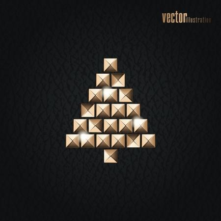 Creative Christmas tree Stock Vector - 17052523