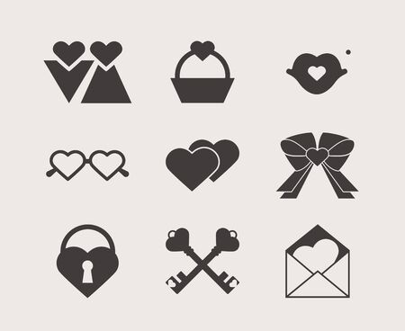 Valentine s day icons  Vector