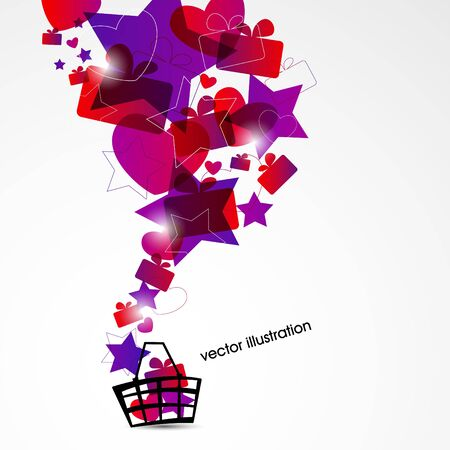 holiday shopping background Stock Vector - 18021259