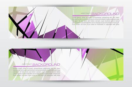 sleek: Abstract colorful header set vector design