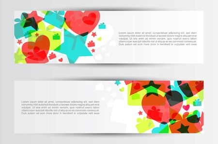 Colorful funny childish background design