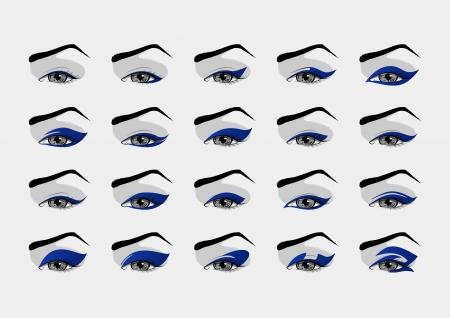 eyeliner: Set of makeup eyeliner designs
