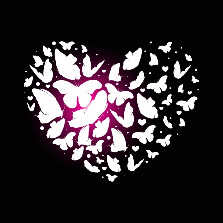 lovestruck: Abstract heart butterfly Illustration