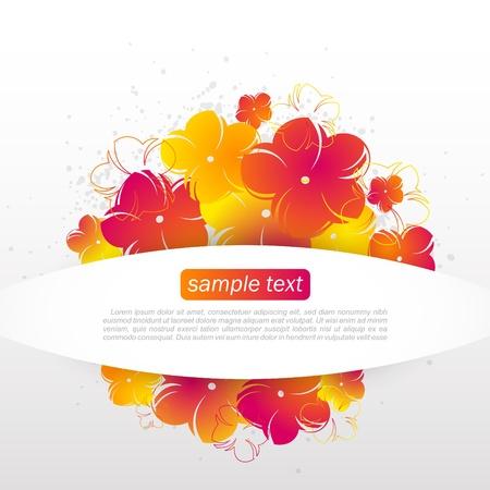 Beautiful Spring Flowers  Illustration