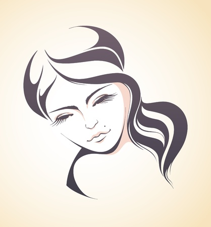 Woman face illustration Stock Vector - 18202200