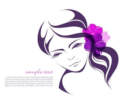 Schoonheid meisje gezicht