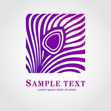 Pawie pióro symbol Abstract Ilustracja