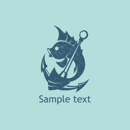 fish icons: Fish and anchor _ Restaurant template