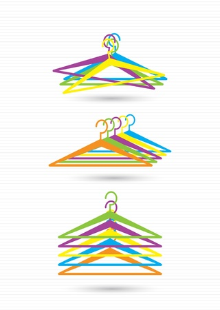 Colorful clothes hangers illustration   Stock Vector - 20776184
