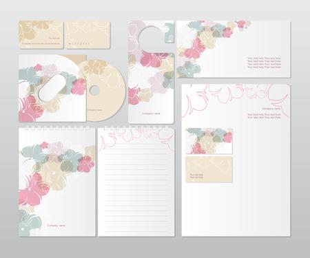 Corporate Identity set met bloemen
