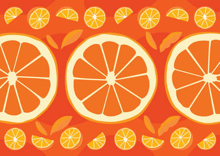 orange half ball pattern design background illustration Vector