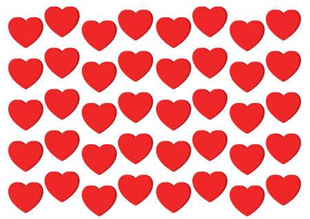 heart red on white background design illustration vector