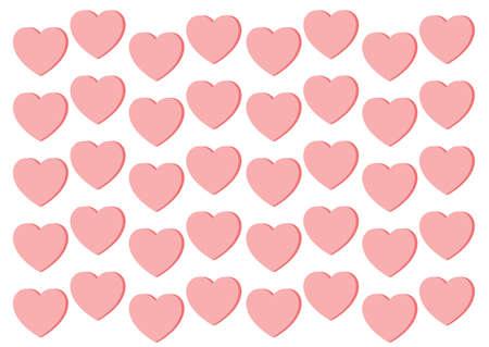 heart pink on white background design illustration vector