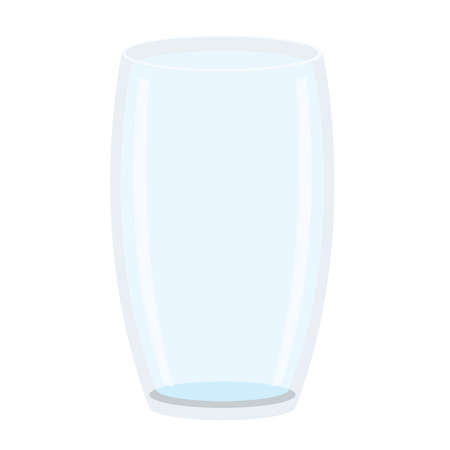 empty glass isolated on white background illustration vector 向量圖像