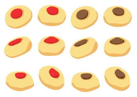 Cookies vector icon isolated on white background illustration vector