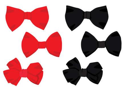 bow red black design on white background illustration vector
