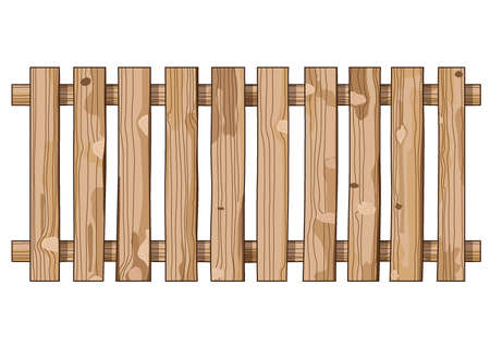 wooden fence texture on white background illustration vector