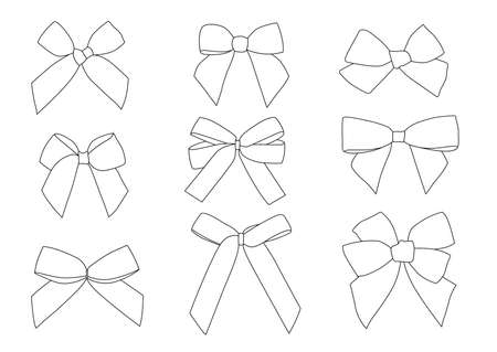 bow line design black and white on white background illustration vector
