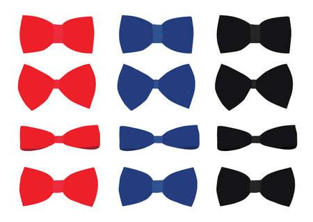 bow red black blue design on white background illustration vector