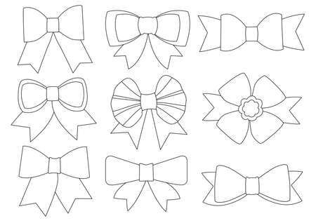 bow line design black and white on white background illustration vector