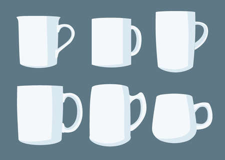 coffee cup white on gray background illustration vector Vector Illustration
