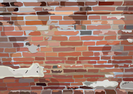 old brick wall and wallpaper pattern background illustration vector Illusztráció