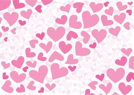 heart pink pattern design on white background design illustration vector