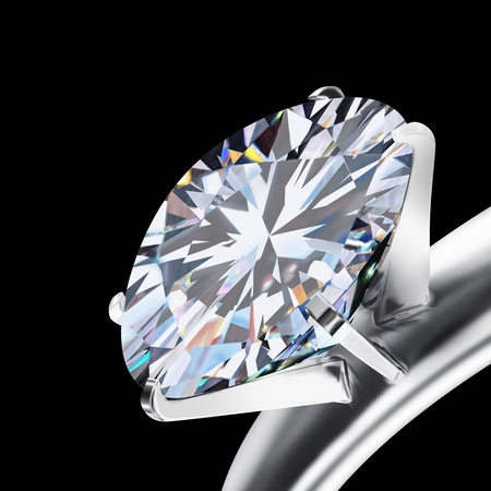 brilliant cut diamond ,luxury wedding ring  photo