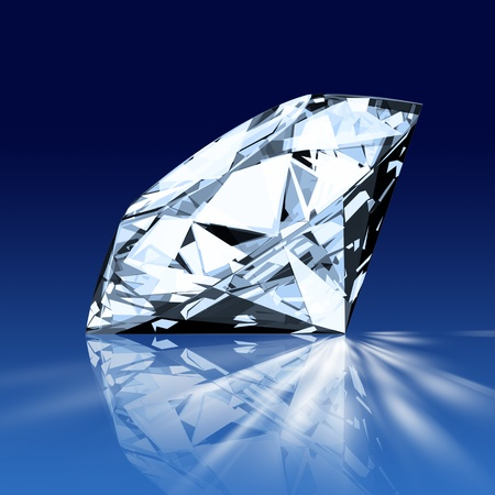 single blue diamond photo
