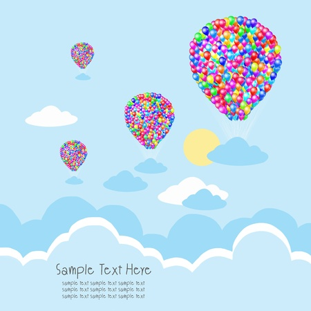 balloon with cloud ans sky background photo