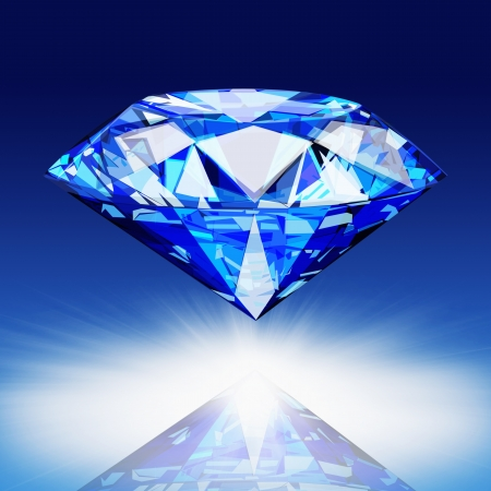 solid blue background: blue diamond