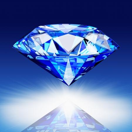 diamond background: blue diamond