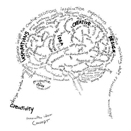 head wise: Brain design ,idea and creative concept Stock Photo
