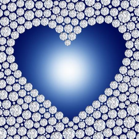 diamond heart frame Stock Photo - 11823711