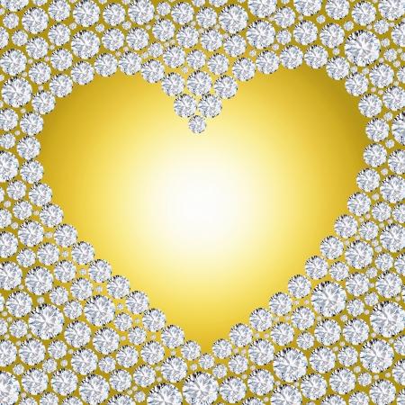 coeur diamant: cadre coeur diamant