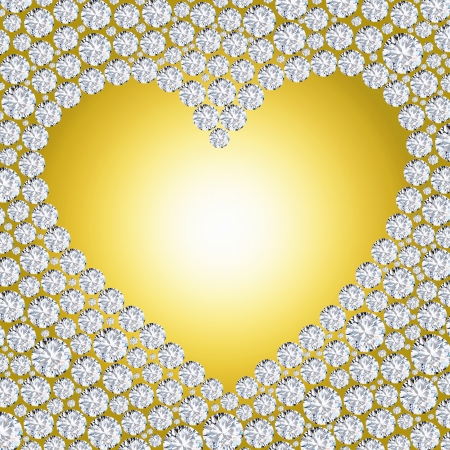diamond heart frame Stock Photo - 11823712