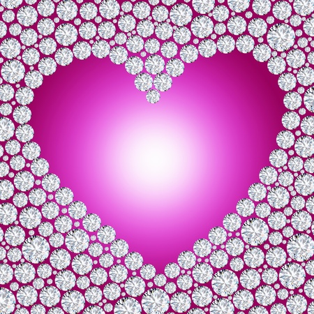 diamond heart frame Stock Photo - 11823713