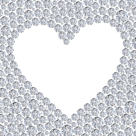 diamond heart frame Stock Photo - 11823737