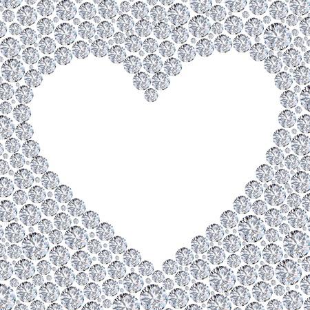 diamond heart frame Stock Photo - 11823737