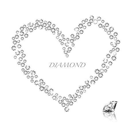diamond heart on white background ,love valentine Stock Photo - 11824482