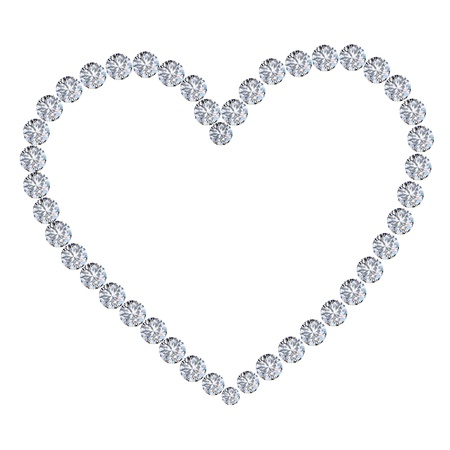 diamond heart on white background Stock Photo - 11824683