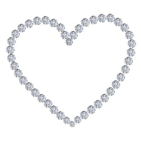 diamond heart on white background Stock Photo - 11824683
