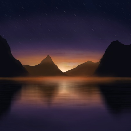 dramatic view of beautiful nature