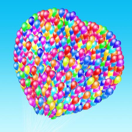 heart balloons ,happy valentine day photo
